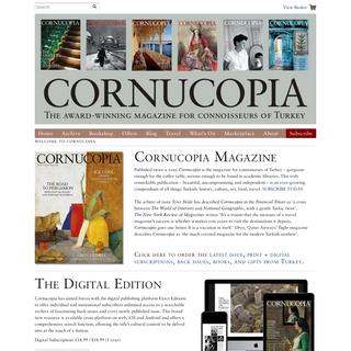 Cornucopia Magazine - Welcome to Cornucopia