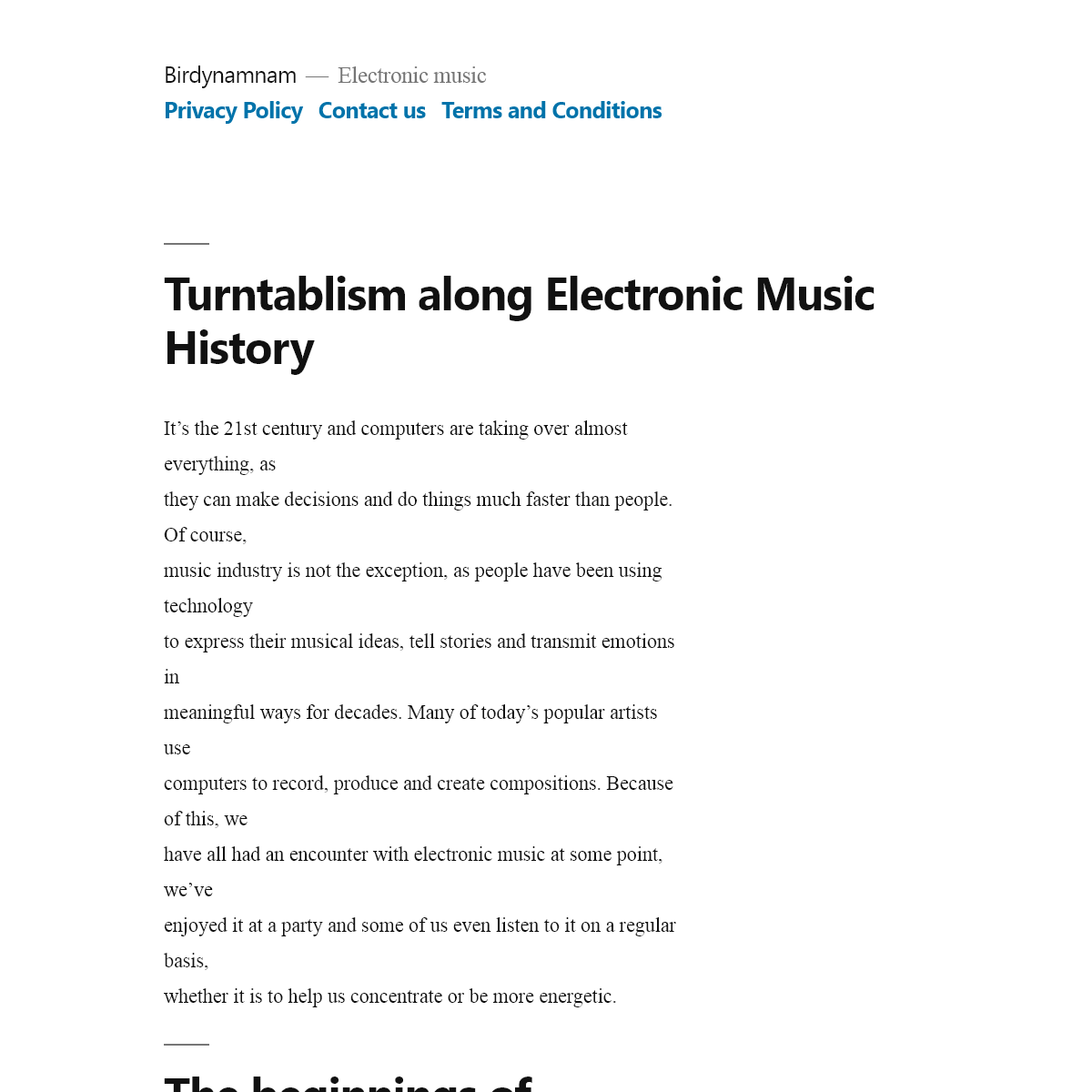 Birdynamnam - Everything you must know about electronic music!