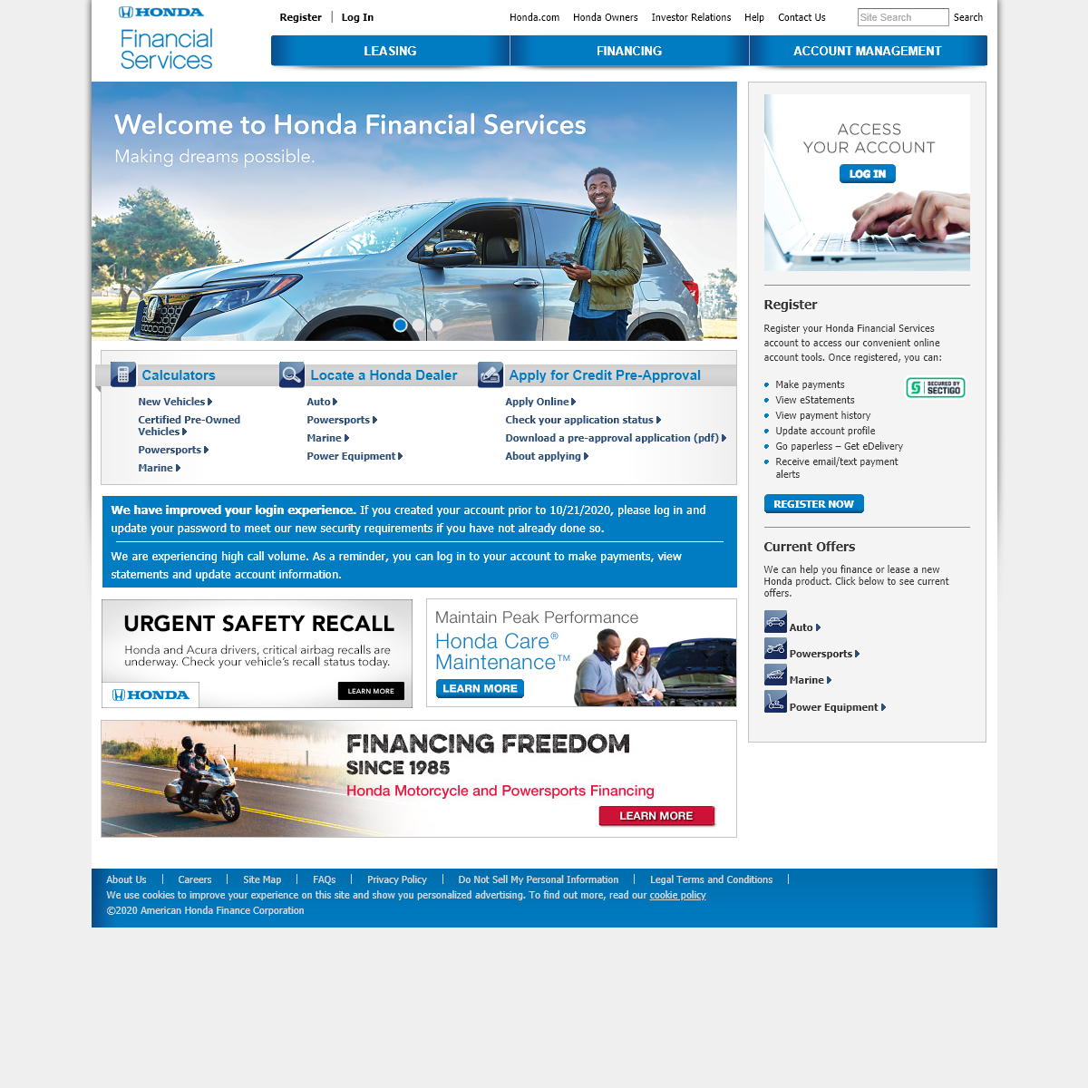Honda Financial Services- Financing, Lease and Warranty Options