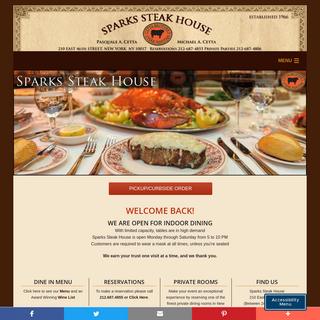 Sparks Steak House – Greatest Steakhouse in Manhattan, Best Steak House in New York City. Established 1966