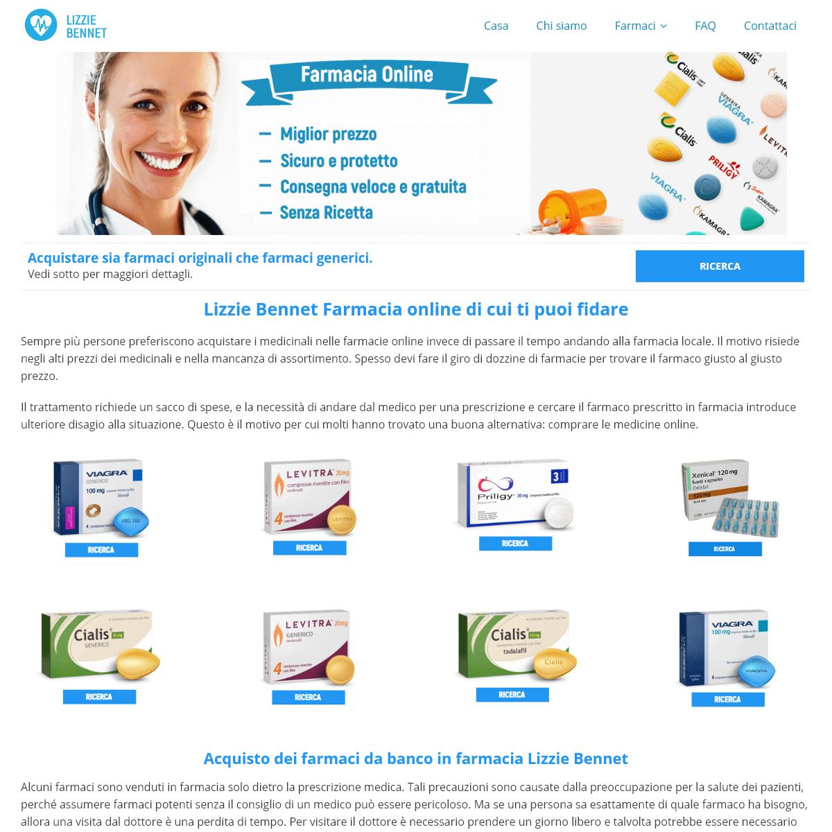 Comprare i medicinali in LizzieBennet farmacia senza ricetta - 2020