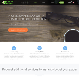 #1 Essay Writing Service in UK From Professionals