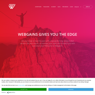 WEBGAINS GIVES YOU THE EDGE - Are you ready to lead the pack with a top performing network that delivers the best results, accel