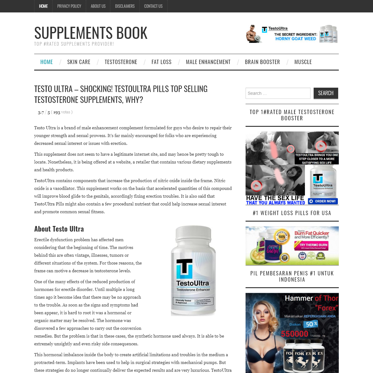 Testo Ultra - Shocking! Testoultra Pills Top Selling Supplements, Why-