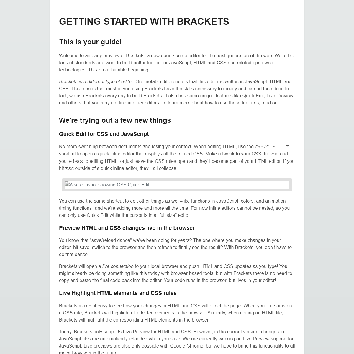 GETTING STARTED WITH BRACKETS