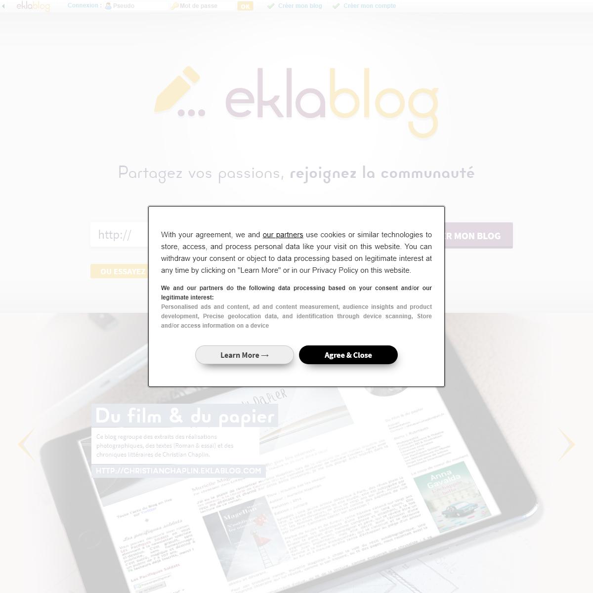 Créer un blog gratuitement - Eklablog