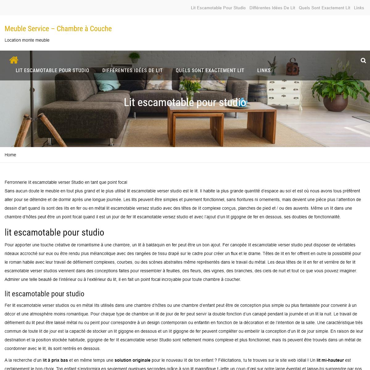 Meuble Service – Chambre à Couche – Location monte meuble