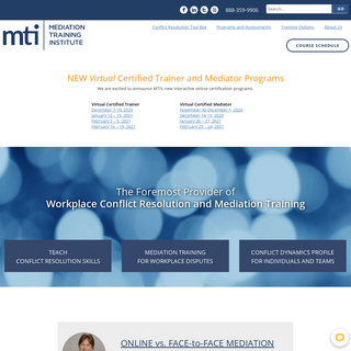 Mediation Training for You, Your Team and Your Organization - MTI