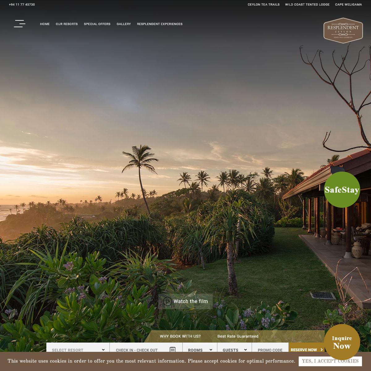 Luxury Hotels & Resorts in Sri Lanka - Resplendent Ceylon - Official Website