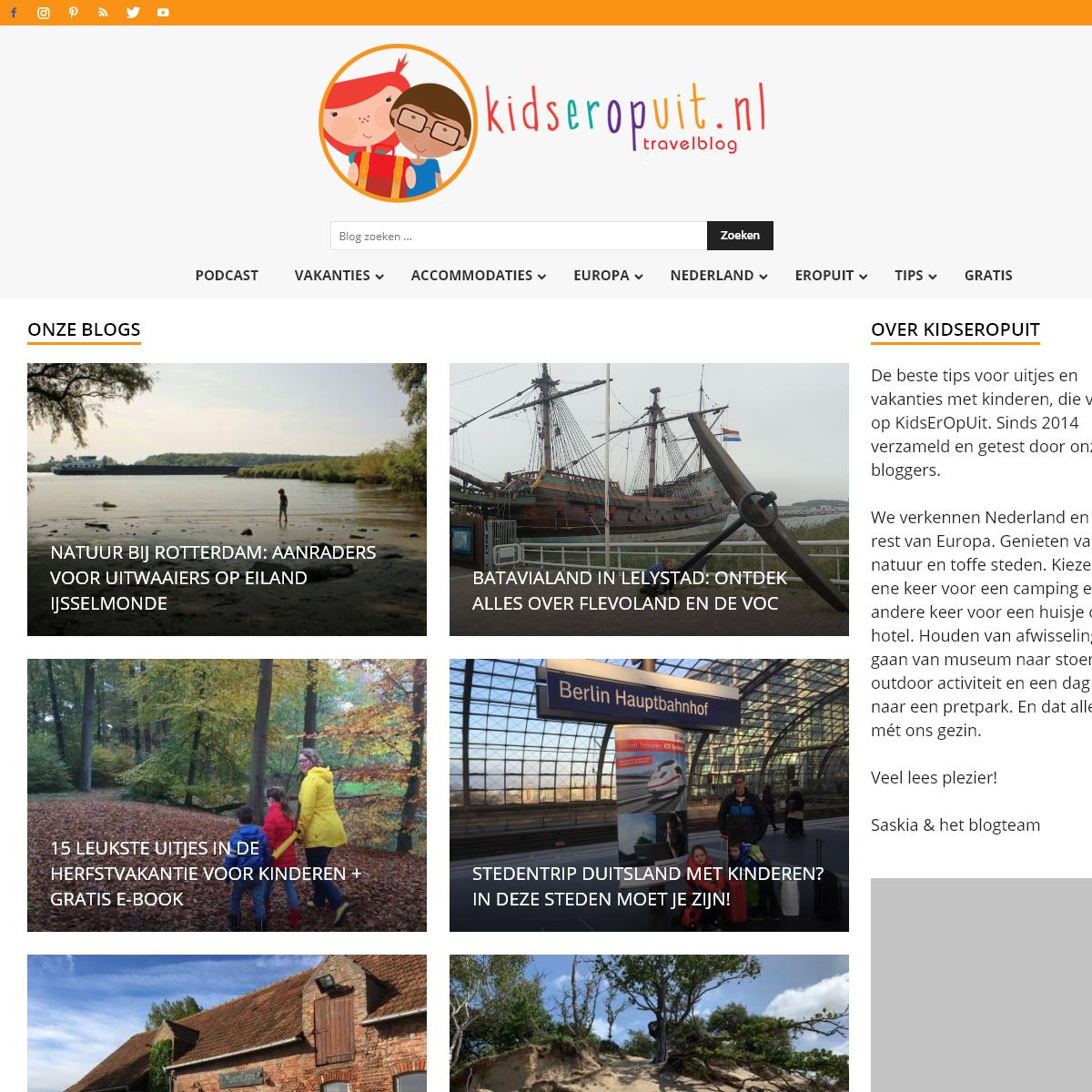 KidsErOpUit - het blog voor de leukste uitjes en vakanties met kinderen