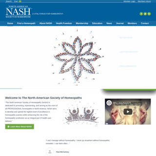 NASH - The North American Society of Homeopaths