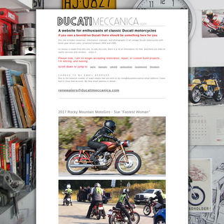 ducatimeccanica.com - for vintage and classic Ducati motorcycle enthusiasts