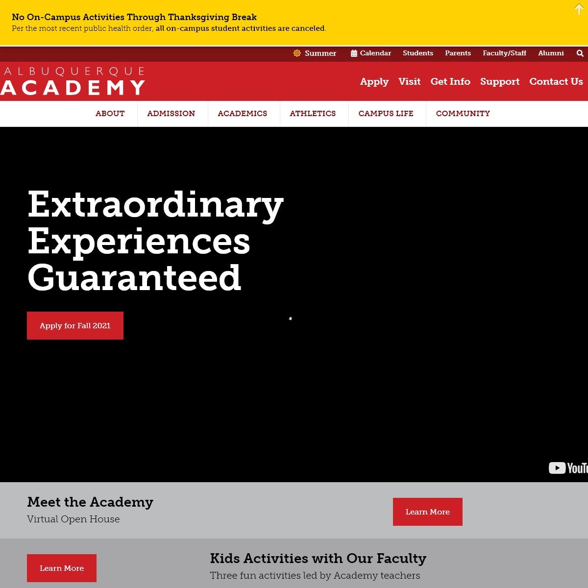 Home - Albuquerque Academy