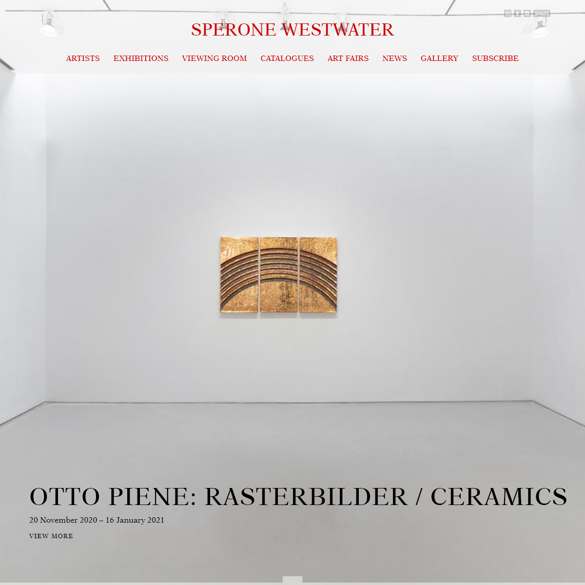 Sperone Westwater Gallery