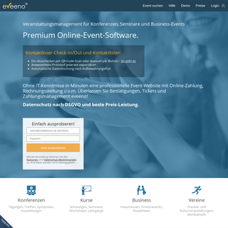Innovative Online Event-Software - eveeno.de