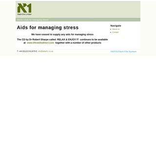Aids for managing stress - Aleph One