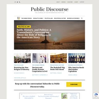 Home - Public Discourse