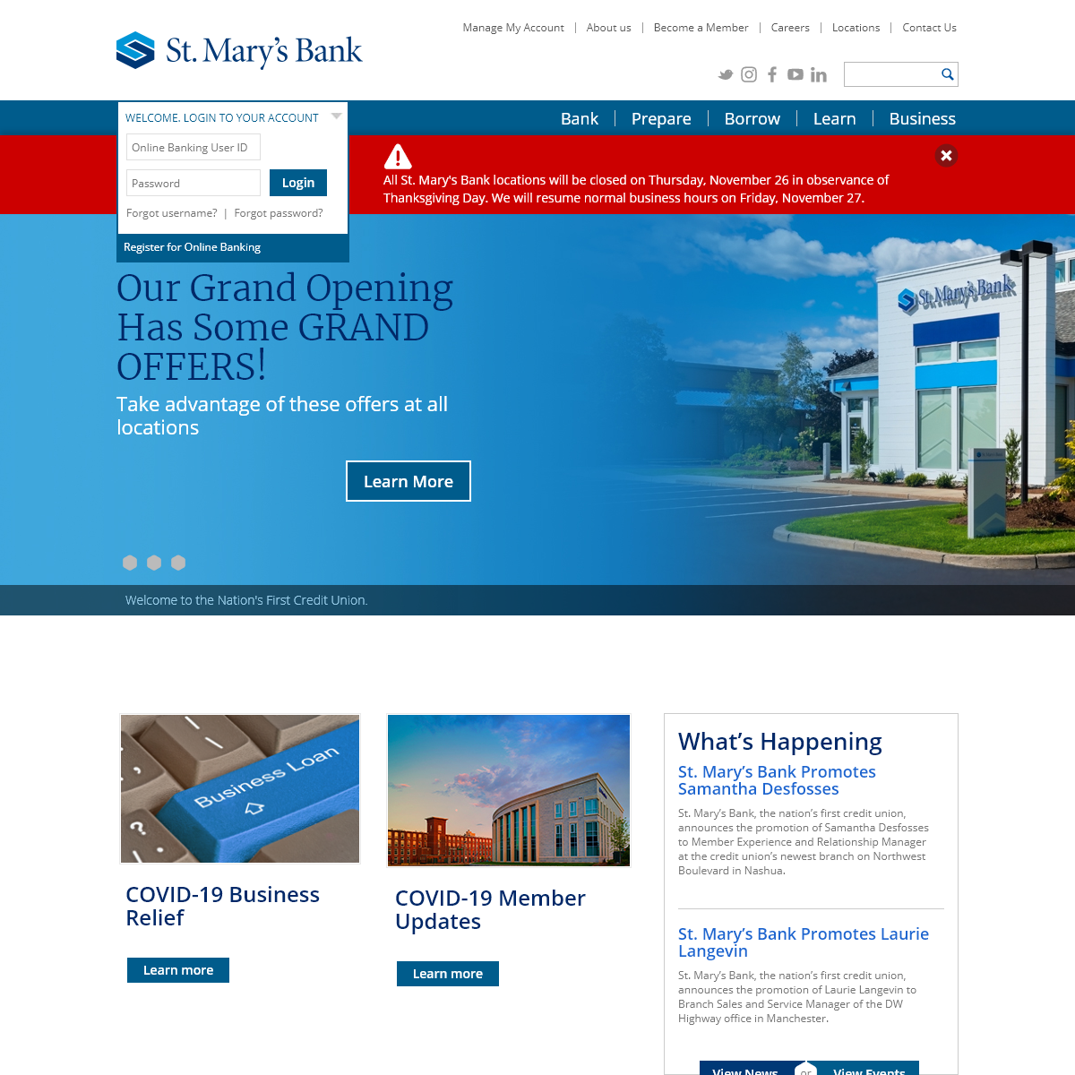 The Nation`s First Credit Union - St. Mary's Bank