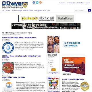 PR Firm Rankings & Public Relations News - O`Dwyer`s PR News