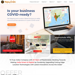 MapmyIndia- India`s leader in premium quality digital map data, APIs, Smart City Solutions, GPS navigation, telematics, location