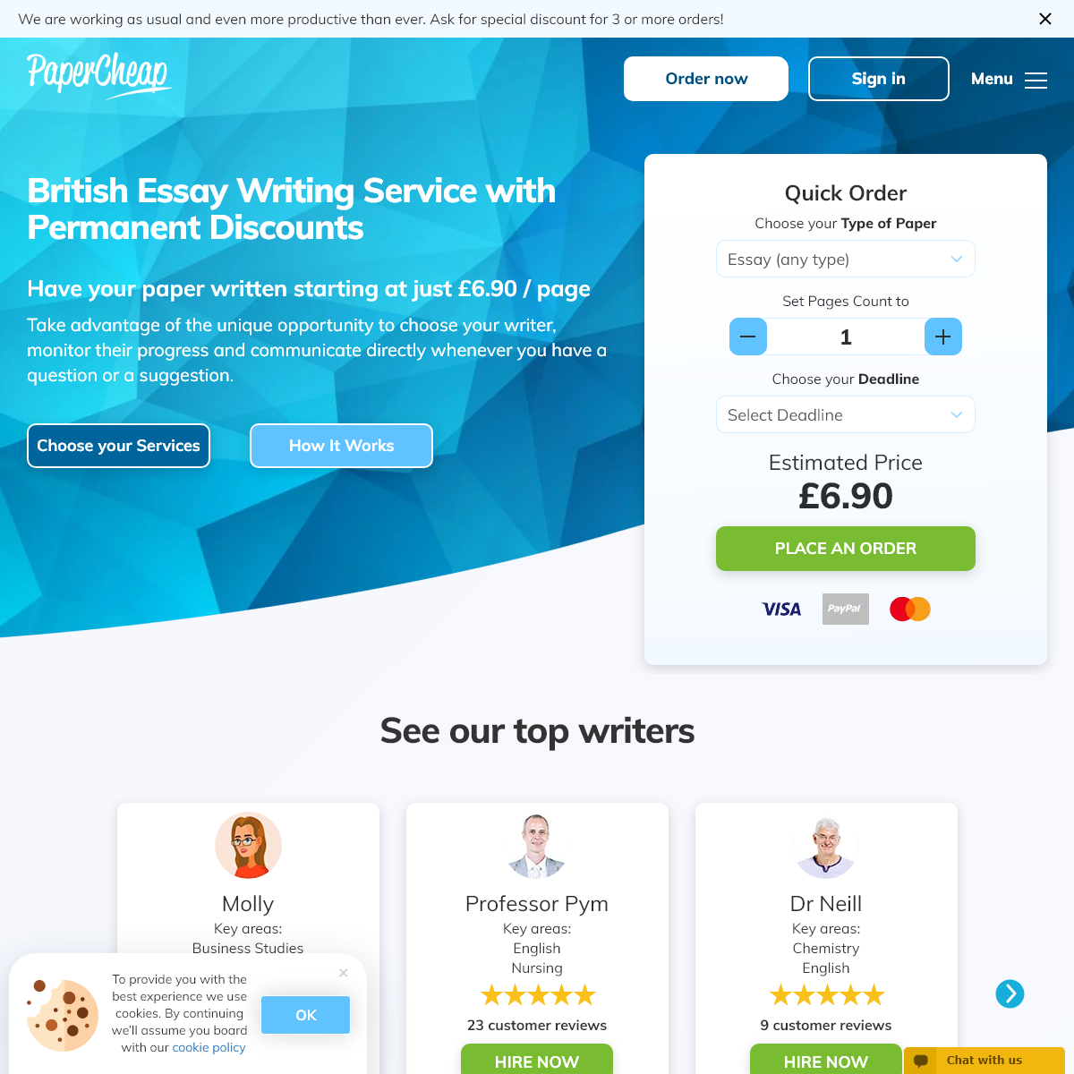Essay Writing Service UK - Cheap Essays and Papers at PaperCheap