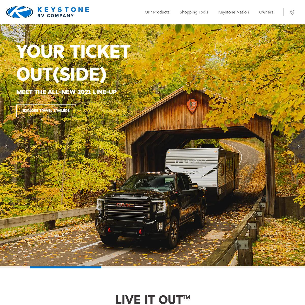 Keystone RV - Travel Trailers, Fifth Wheels, Toy Haulers, & Destination Trailers - Keystone RV