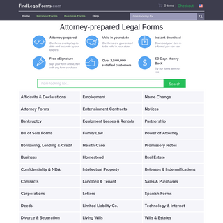 Legal Forms Attorney-Prepared, Ready to Download - FindLegalForms