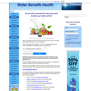 Water benefits health and water filter reviews