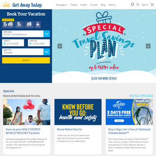 Get Away Today - Discount DISNEYLAND® Vacations & Beyond
