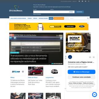 Jornal Oficina Brasil - Maior portal com notícias, fórum e vídeos para oficina mecânica
