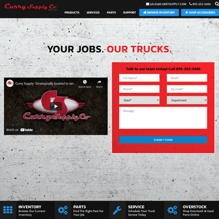 Curry Supply Co Truck Manufacturer - Trucks for Sale