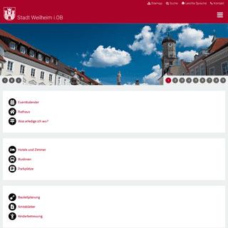 Stadt Weilheim i.OB - Das offizielle Stadtportal