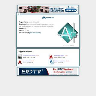 Autodesk AutoCAD 2007Download Page