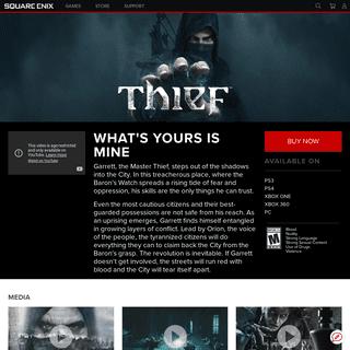 SQUARE ENIX - Games - Thief