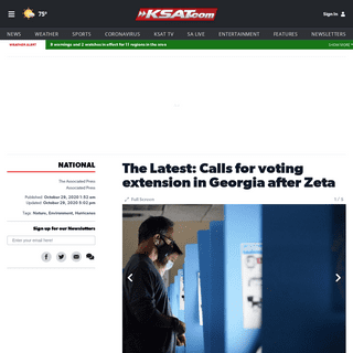 The Latest- Calls for voting extension in Georgia after Zeta