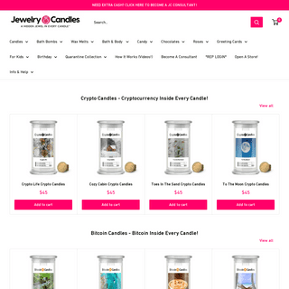 Jewelry In Candles- A Ring Hidden In Every Candle and Bath Bomb