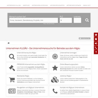 Unternehmensverzeichnis ALLGÄU - Unternehmen ALLGÄU -- Geprüfte Unternehmen aus dem Allgäu