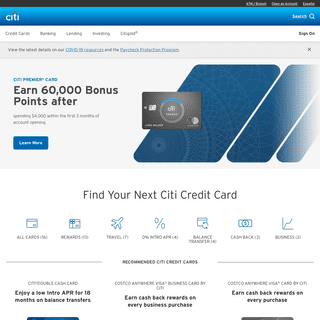 Citi Credit Cards – Find the right Credit Card for you – Citi.com