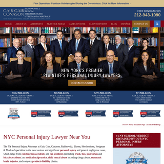 Personal Injury Lawyer NYC - New York Personal Injury Attorney Near You