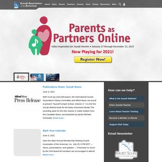 Homepage - Suzuki Association of the Americas