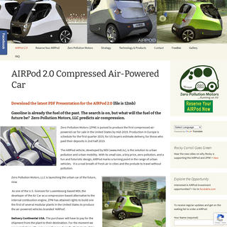 Zero Pollution Motors - the first compressed air-powered car