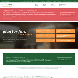 CIMZIA® (certolizumab pegol) - An FDA-Approved Biologic Treatment