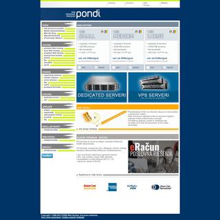 Web Hosting - Registracija Domena - PONDI Web Hosting Provider