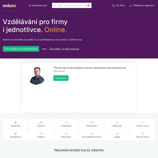 Online kurzy, semináře, odborná školení a firemní vzdělávání – Seduo.cz