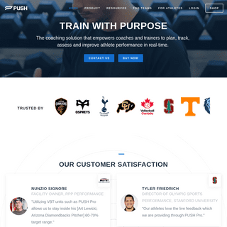 PUSH -- Train with Purpose