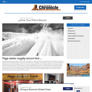 Breaking News from your Local News Source Leader in Lake Powell Arizona - Lake Powell Chronicle