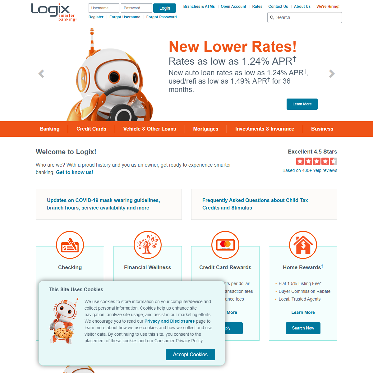The best rates & best service. That`s smarter banking. - Logix Smarter Banking
