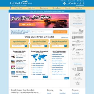 Cheap Cruises and Discount Cruise Deals at CruiseCheap.com