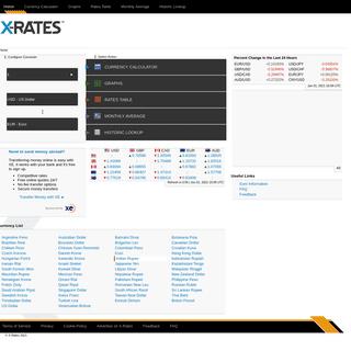 Exchange Rates - X-Rates
