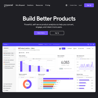 Product Analytics for Mobile, Web, & More - Mixpanel
